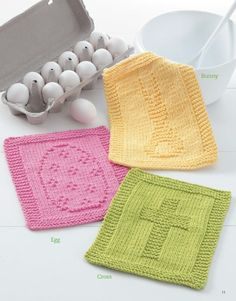 Dishcloths for Special Days - Holiday clean-up just got easier or, at least prettier, when you use any of these knit dishcloths. Dishcloths for Special Days has an array of holiday icons arranged in these quick-to-knit project patterns. Choose the ones that you like the most and get started on making your kitchen decor all the brighter with these festive dishcloths!  Projects include patterns for these special days: Valentine's Day (Love, Rose, and Be Mine); St. Patrick's Day (Clover, Pot…