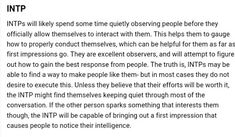 Intp Female, Intp Personality Type, Intj And Infj, Entp, Psychology Facts, W 6, Introvert, Mayer Briggs, Decir No