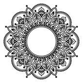 mandala: Mehndi lace, Indian Henna tattoo round design or pattern Dreieckiges Tattoos, Tattoos For Guys, Henna Indiana, Dotwork Tattoo Mandala, Cuff Tattoo, Indian Henna, Tattoo Indian, Mehndi Patterns, Tattoo Patterns