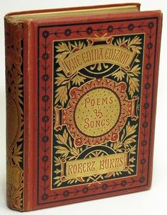 Rare antique book ~ Poems & Songs by Robert Burns.
