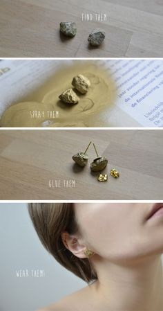 mangelmoes: DIY | pyrite stud earrings