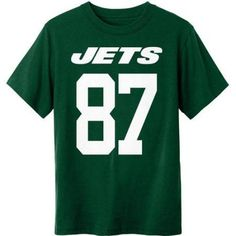 NFL New York Jets Youth Eric Decker Tee, Boy's, Size: 2XL, Green