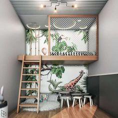 Decor Room, Bedroom Decor, Home Decor, Loft In Bedroom, Mezzanine Bedroom, Jungle Bedroom, Loft Room, Master Bedroom, Loft Bed Decorating Ideas