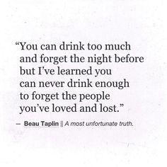 Beau Taplin | A most unfortunate truth.