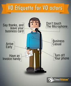 VO Etiquette for VO actors