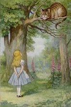 Alice & the Cheschire cat!!