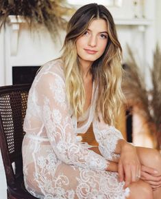 Putting together your honeymoon wardrobe?  A beautiful lace robe is a must.  It's also great for your Getting Ready Pictures. Also perfect for your Boudoir Shoot?  #honeymoonwardrobe #weddinglingerie #girlandaseriousdream #lacerobes