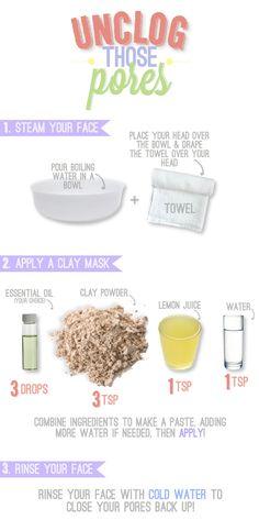 Unclog those pores