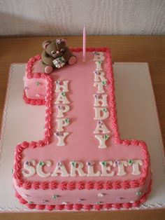 Number One Birthday Cake on Cake Central - Torten - Number One Cake, Number Cakes, Number Birthday Cakes, Birthday Cake Girls, Birthday Ideas, Girl Cakes, Cute Cakes, Creative Cakes, Cake Smash