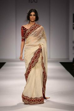 Saree by:Vineet Bahl