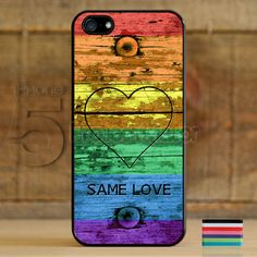 Same Love Gay Lesbian Pride Flag Case Cover for Apple iPhone 5 / 5s right on