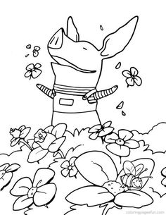 (^_^) Olivia the Pig | Free Printable Coloring Pages – Coloringpagesfun.com