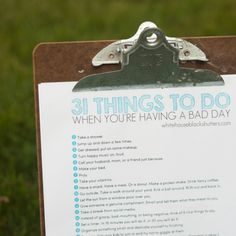 31 Things to Do When You're Having a Bad Day - Money Saving Mom®
