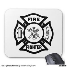 Fire Fighter Maltese Mouse Pad