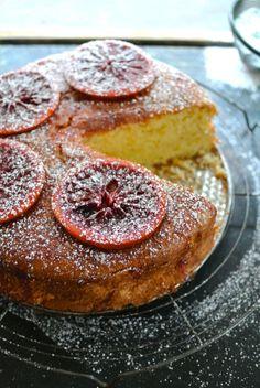 Blood Orange Madeira Cake
