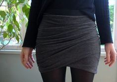 Instructions for an asymmetric draped skirt