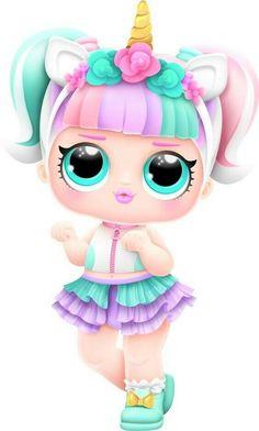Unicorn Doll, Unicorn Art, Lol Dolls, Cute Dolls, Unicorn Wallpaper Cute, Lol Doll Cake, Unicorn Pictures, Iron On Fabric, Doll Party