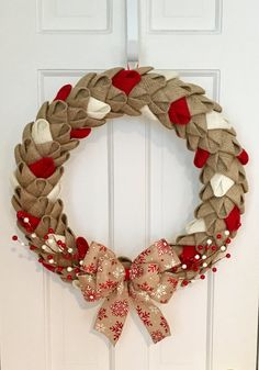 Hey, I found this really awesome Etsy listing at https://www.etsy.com/listing/468868436/rustic-holiday-burlap-petal-wreath