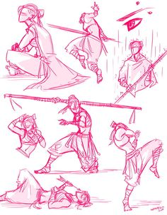 ✔ Anime Poses Fighting Art Reference - New Ideas Action Pose Reference, Figure Drawing Reference, Art Reference Poses, Sword Reference, Anatomy Reference, Hand Reference, Character Poses, Character Drawing, Character Sketches