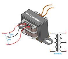 12-0-12 Center Tapped Transformer Wiring/Terminals