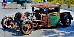 Weird Cars, Cool Cars, Crazy Cars, Rat Rod Pickup, Rat Rod Cars, Street Rods, Bobber, Rats, Cars Motorcycles