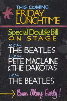 Rare Beatles poster from the Cavern Club fetches £27,500 at auction