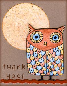 'Thank Hoo!' via ColoredMondays