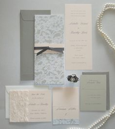 Lace Wedding Invitation by vanillacollections on Etsy, $5.00