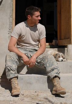 I'll take a puppy and a soldier any day!