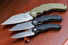 Bastinelli Creations from France via LionSteel of Italy are some of the best dual-use tactical/EDC folders we have seen yet. http://www2.knifecenter.com/brand/440/Bastinelli-Creations