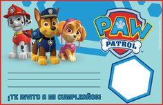 Paw Patrol invitación en blanco / Las invitaciones, te hice unas en blanco para que puedas poner la foto de tu pequeño, lugar, hora etc  paw-patrol-invitacion