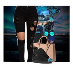 """🌌"" by ladiijae ❤ liked on Polyvore featuring &K, H&M, adidas Originals and adidas"