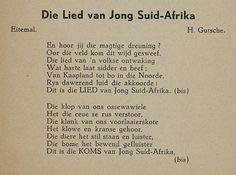 Die lied van Jong Suid-Afrika