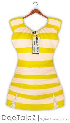 DeeTaleZ Dresses just another summer stripes yellow
