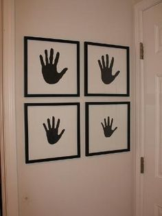 Family Handprint art by caitlin
