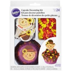 1 1//4inch Edible Sugar Cupcake Toppers 24pk Frightful Friends  2//3inch