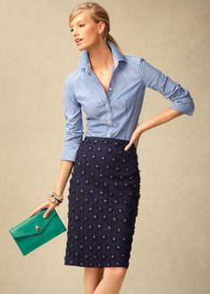 Talbots Spring 2013 - Outfits Part 2 Fashion Mode, Office Fashion, Work Fashion, Womens Fashion, Fashion News, Look Office, Office Chic, Work Chic, Work Wardrobe