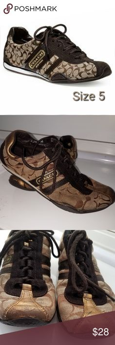 2e6365d688d COACH KATELYN Brown Tennis Sneakers Shoes Size 5 These fashionable COACH  Sneaks are in good shape
