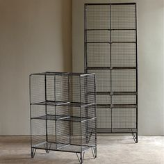Lend an industrial look to any space with these galvanized wire bookcases, inspired by old gymnasium shelves . Try one in the kitchen to hold your favorite cookbooks and linens or in the bathroom to s...