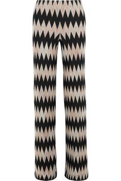 MISSONI Wool-Blend Crochet-Knit Wide-Leg Pants. #missoni #cloth #pants