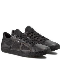 Tenisi Piele Barbati Negri Geox   Cea mai buna oferta Mai, All Black Sneakers, Shoes, Fashion, Tennis, Moda, Zapatos, Shoes Outlet, Fashion Styles