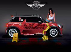 Mini Cooper Race vt by klimentp on DeviantArt Speed Logo, Mini Cooper S, Rear Window, Fascinator, Logo Design, Racing, Cool Stuff, Numbers, Deviantart