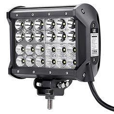 [Verbesserte Version] LE 72W 5040lm LED Zusatzscheinwerfer Vier Reihen, LED Arbeitsscheinwerfer f�r Gel�ndewagen ATV SUV Jeep Boot, LED Offroad Flutlicht Reflektor Scheinwerfer Arbeitslicht, LED Nebelscheinwerfer