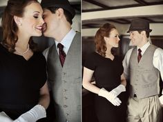 Photo Fridays   1940's Vintage Glam Engagement---- ooooh i have to do this!