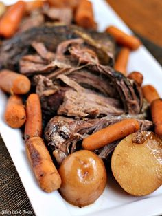 Balsamic Roast with Potatoes and Carrots