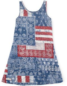 Ralph Lauren Little Girls' Bandana Dress