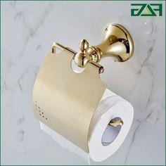37.00$  Watch now - https://alitems.com/g/1e8d114494b01f4c715516525dc3e8/?i=5&ulp=https%3A%2F%2Fwww.aliexpress.com%2Fitem%2FSolid-Brass-golden-Finish-paper-holder-Bathroom-Hardware-Product-Bathroom-Accessories%2F32489704057.html - FLG Brass+Zinc-Alloy Golden Finish Paper Holder Wall Mounted Bathroom Hardware Product Roll Holder Bathroom Accessories G125