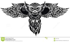 Owl. Tattoo Design - Download From Over 30 Million High Quality Stock Photos, Images, Vectors. Sign up for FREE today. Image: 42057225