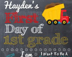 First Day of School Sign - Printable First Day of School Photo Prop School Chalkboard, Chalkboard Signs, 1st Day Of School, School Days, Back To School Essentials, Kindergarten Graduation, School Signs, School Pictures, Kids Education