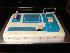 Gymnastics cake, covered in fondant with fondant decorations